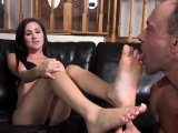 Brunette Has Feet Sucked and Pussy Thrusted Until She Cums