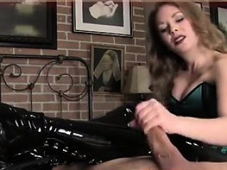 MISTRESS TEASES WITH HER BOOTS