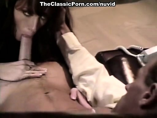 Amber Woods, Tom Byron, Marc Wallice in vintage porn video