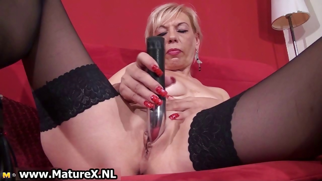 Porn Tube of Dirty Old Slut Gets All Horny Playing