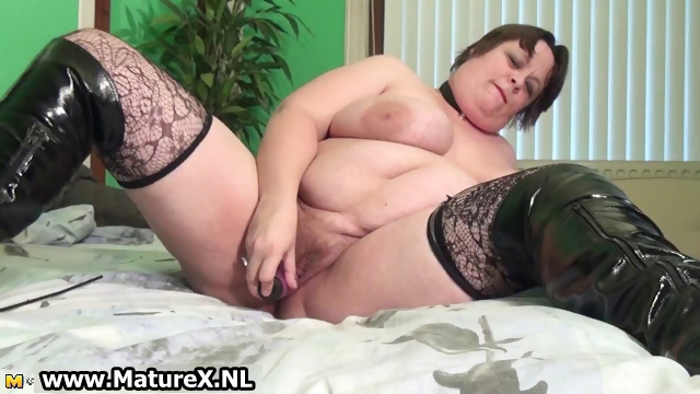 Porn Tube of Old Busty Woman Is Licking Violet