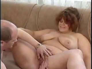 Porno Video of Chubby Brunette Granny Eats A Stiff Rod And Gets Big Pussy Fingered