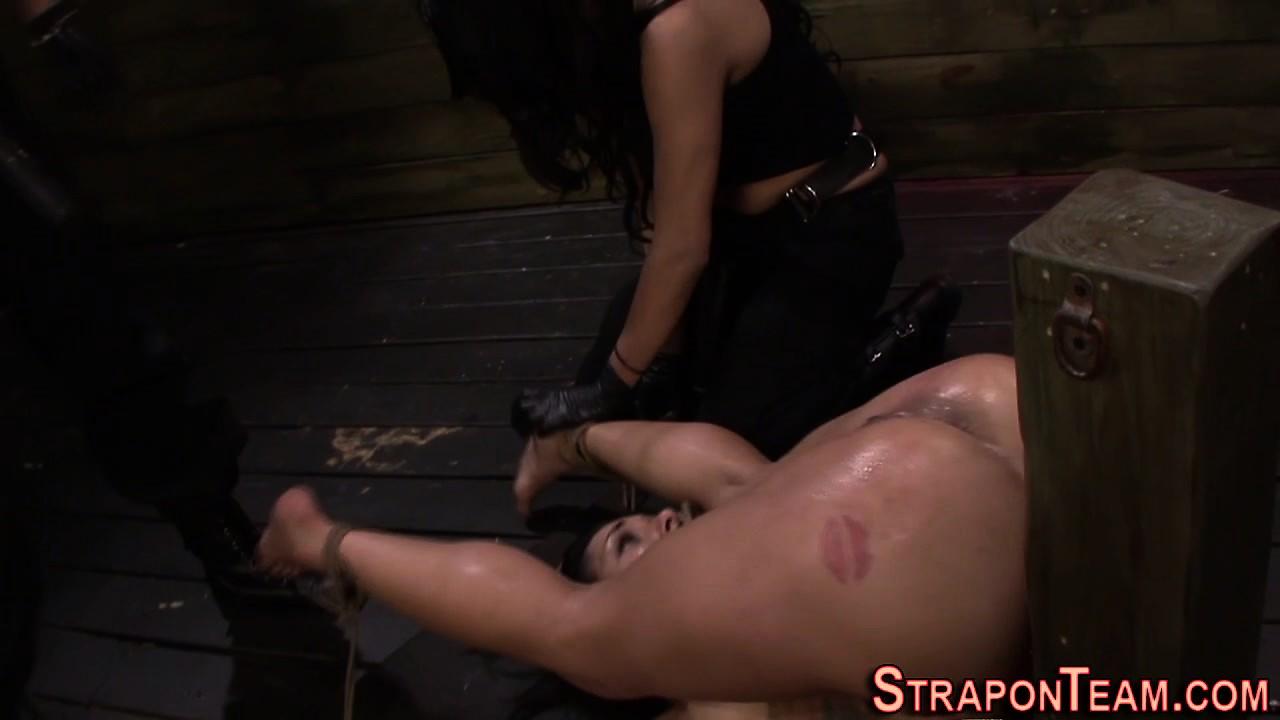 Hanging bdsm slave gagged