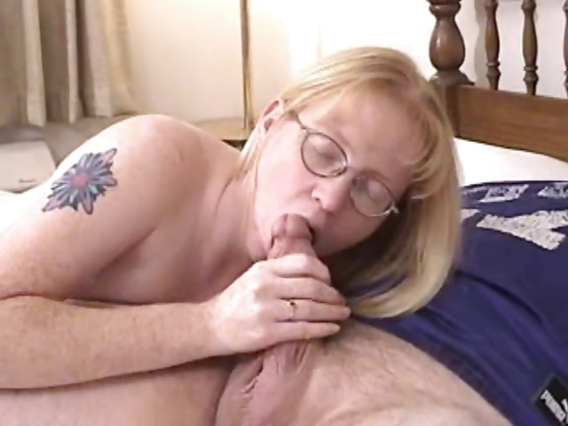 Porno Video of Blonde Milf Wearing Glasses Blows And Fucked