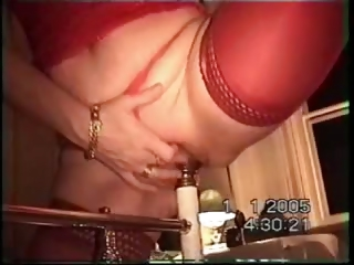 Porn Tube of Swedish Wife Riding 3 Inch Wide Bedpost