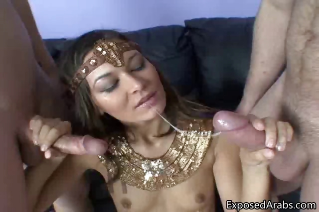 Porn Tube of Skinny Arabian Girl Gets Fucked
