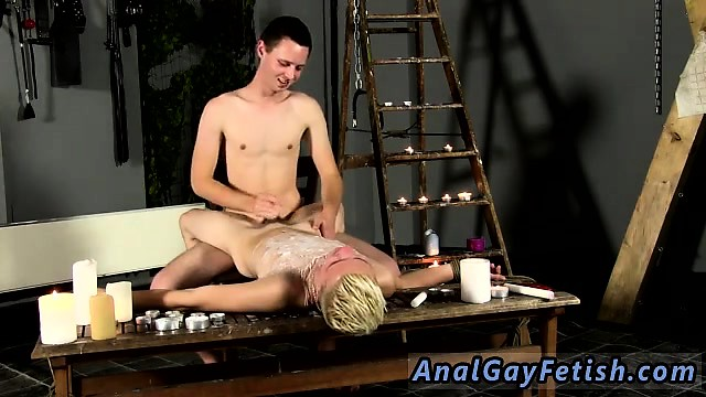 Gay male porno male castration Splashed With Wax And Cum