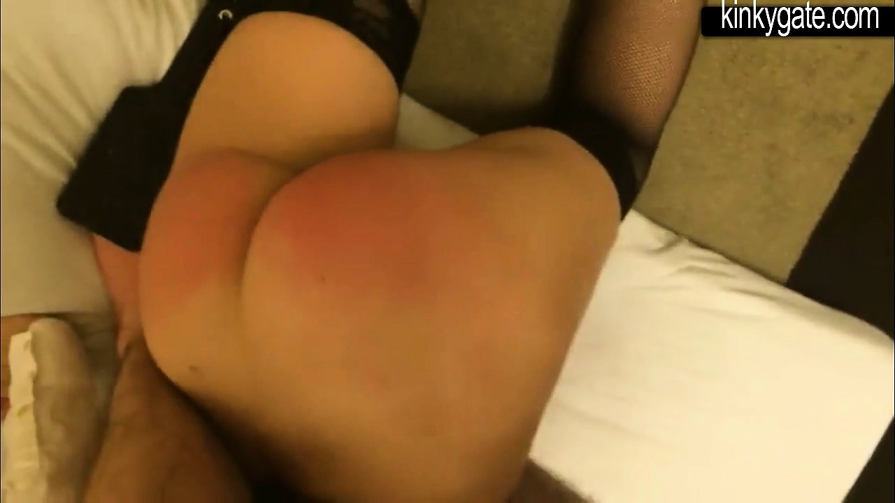 Spanking and fingering Ass of my sub Lotti