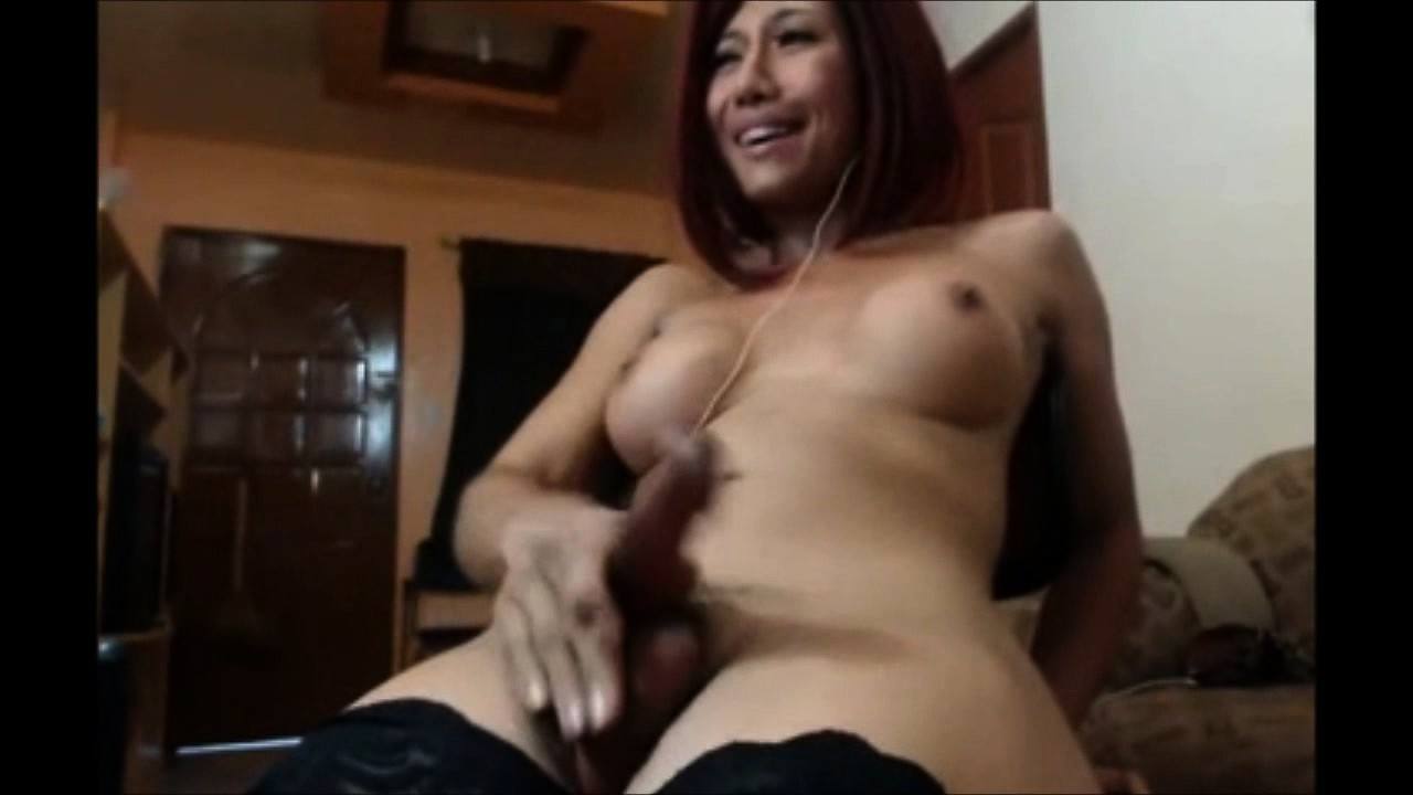 Close up shemale masturbation and orgasm