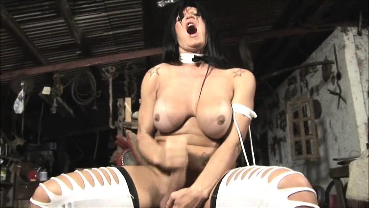 Very closeup mature shemale orgasm.