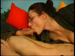 Sex Tubes of Russian Mature Teacher And Student Home Fuck