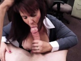 Big tits MILF gives hard cock a titjob