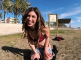 Slut shows body in public