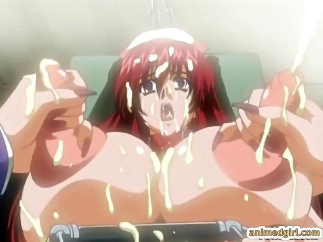 Porno Video of Chained Hentai Nurse With A Muzzle Gets Huge Boobs Injections