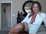 Provoking blonde cougar changes clothes and reveals her ama