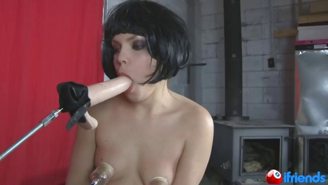 Porno Video of Machine Fucks Girls Mouth