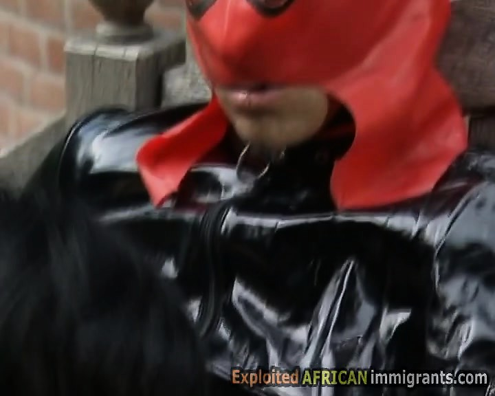Interracial BDSM orgy with slaves from every continent. Two