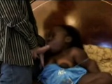 Black Midget Whore Enjoys Interracial Action