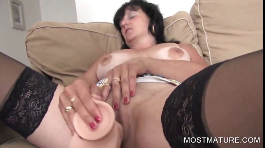 Porn Tube of Dildo Fucking With Mature Babe