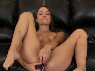 amber rayne drills her holes with sex toys and trembles with pleasure
