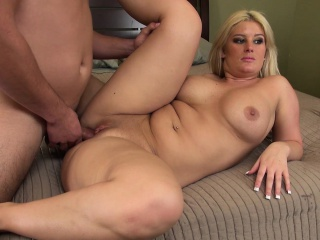 busty blonde with a big round booty julie cash orgasms on a hard dick