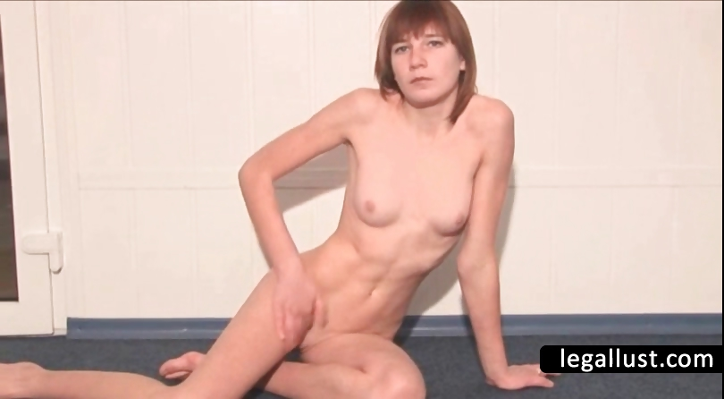 Porn Tube of Slim Teen Shows Tight Bald Cunt