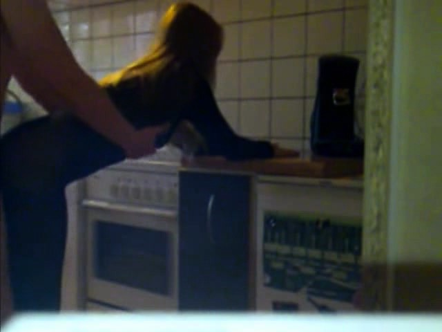 Lovely teen in nylons takes a hard banging from behind in t