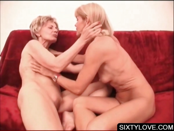 Porn Tube of Mature Lesbos Making Out On The Couch