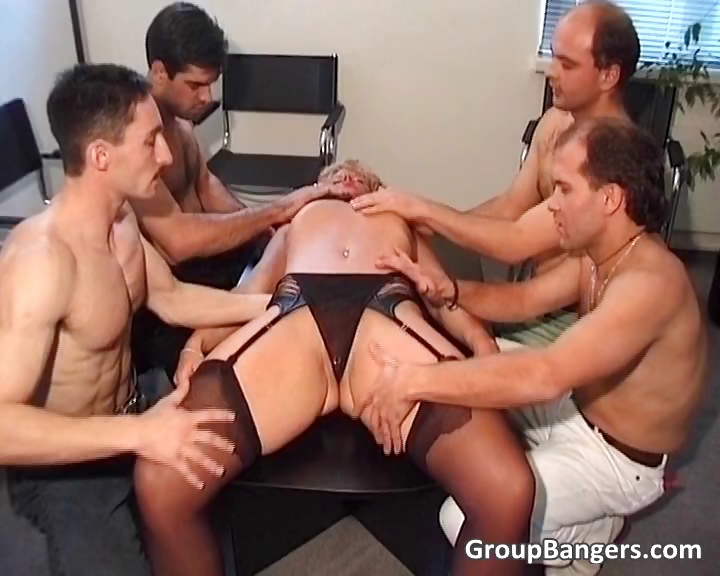 Porn Tube of Amateur Gang Bang Party With Some Mature