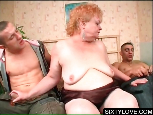 Porno Video of Mature Babe Sucking Two Large Dicks