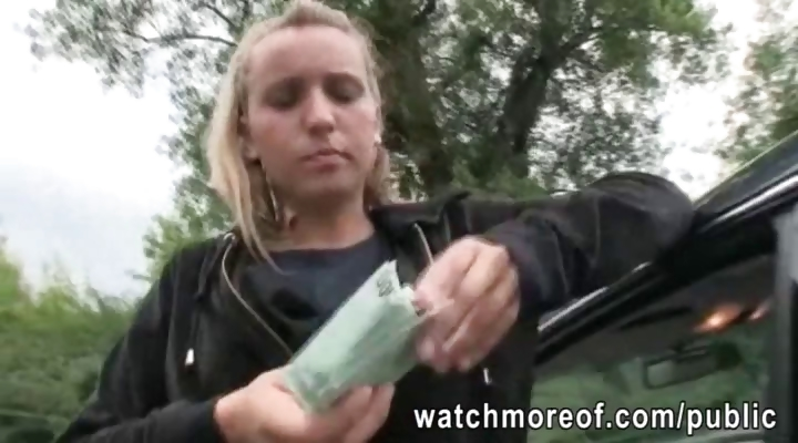 Porn Tube of Czech College Girl Picked Up And Banged For Money