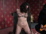 Big clit skank gets pussy and tits punished