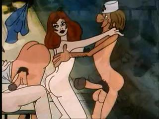 Porno Video of Cartoon Classic Of Some Perverted Acts Of Athletic Prowess