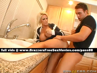 Porno Video of Sexy Blonde Mature Slut In The Kitchen