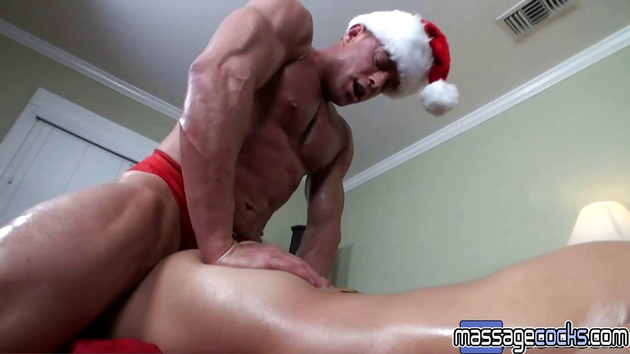 Porn Tube of Massagecocks New Year Muscle Massage