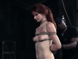 Redhead sub getting nipples and feet punished