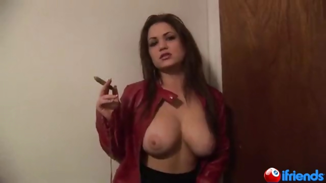 Porno Video of Cigar Smoking Babe Shows It All