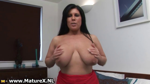 Porn Tube of Mature Brunette Loves Playing