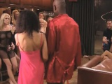 Singer party massaging interracial babes naked