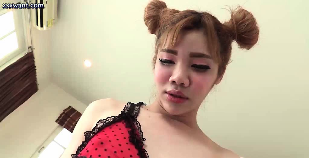 Asian shemale giving oral and riding cock