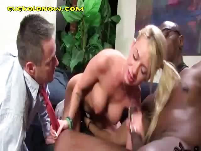 Porno Video of Cuckold Made To Watch Interracial