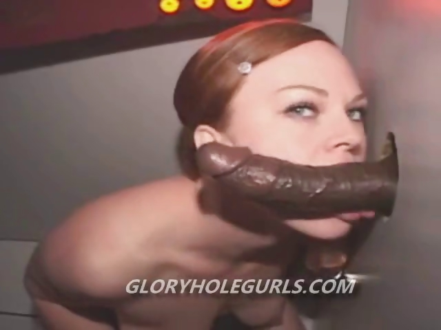 Porno Video of Gloryhole Slut Swallows A Big Black Cock With Her Tits Out Ready To Swallow A Big Load Of Cum