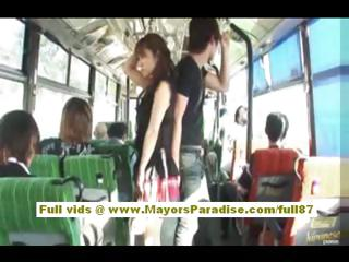 Porno Video of Mihiro Chinese Model Enjoys A Fucking On The Bus