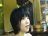 Adorable Japanese girl loses her clothes and delivers a nic