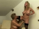 Busty blondes MILF and granny in sensual pussy satisfaction