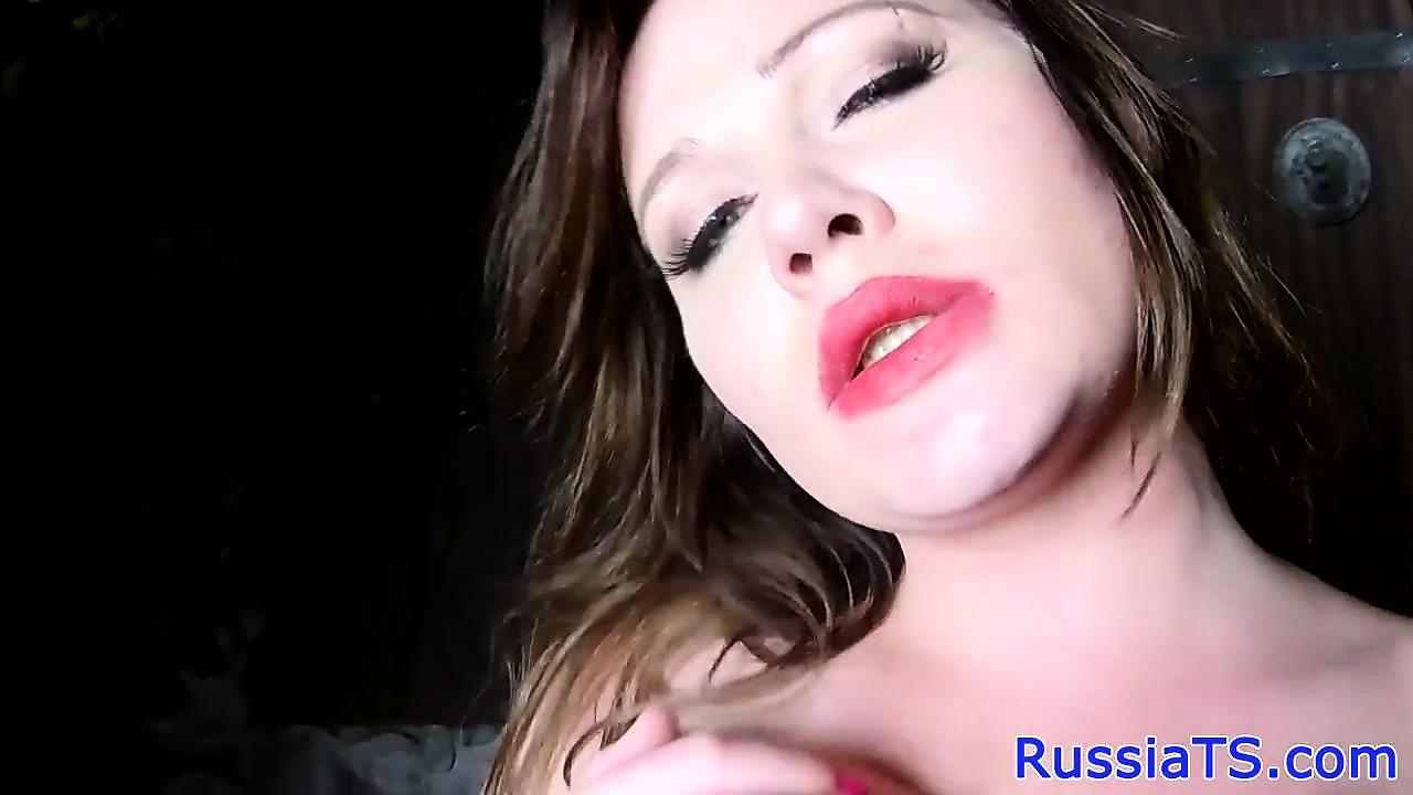 Curvy retro russian trans sensually jerksoff