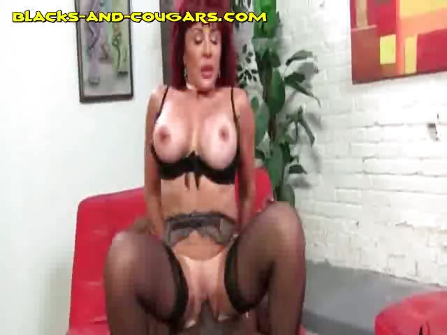Porno Video of Black Plows Redhead Cougar