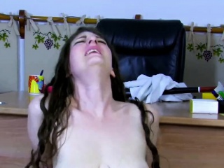 sabrina deep takes a stiff cock in her butt