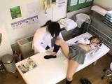 Enticing Asian teen drops her panties and a doctor examines