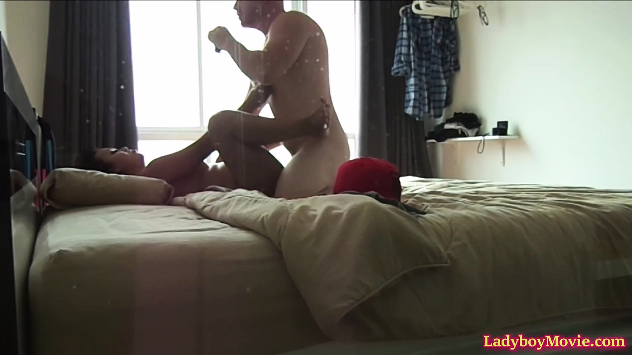 Ladyboy Amy Fucked At Home